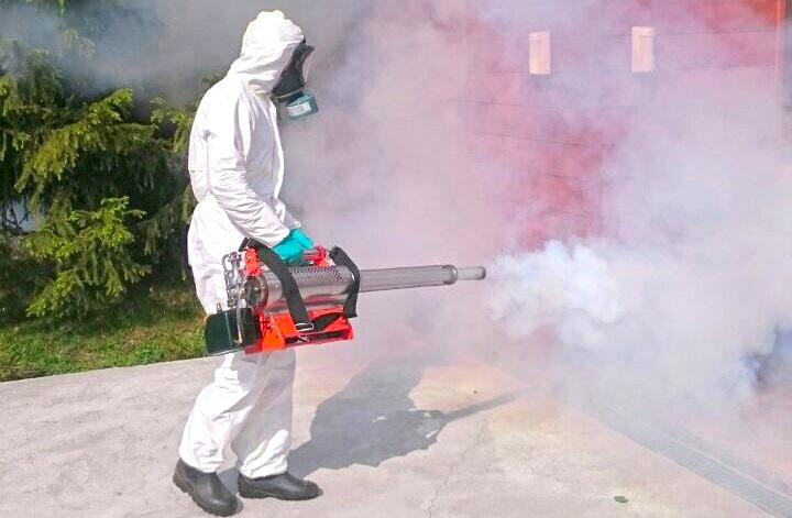 Генератор горячего тумана на борьбе с клещами