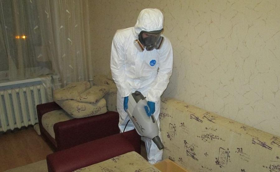 Во время обработки помещений необходимо использовать средства защиты