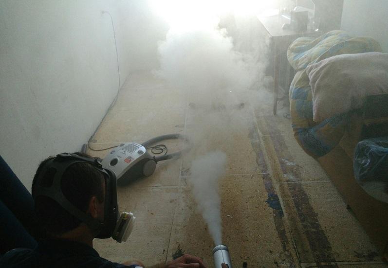 Обработка помещения горячим туманом