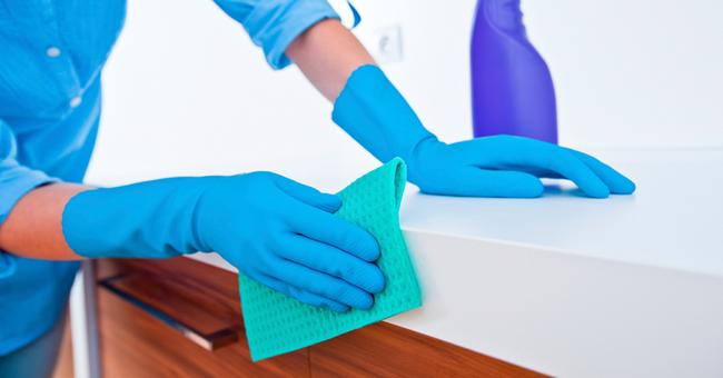 Влажная уборка рабочих поверхностей после дезинсекции